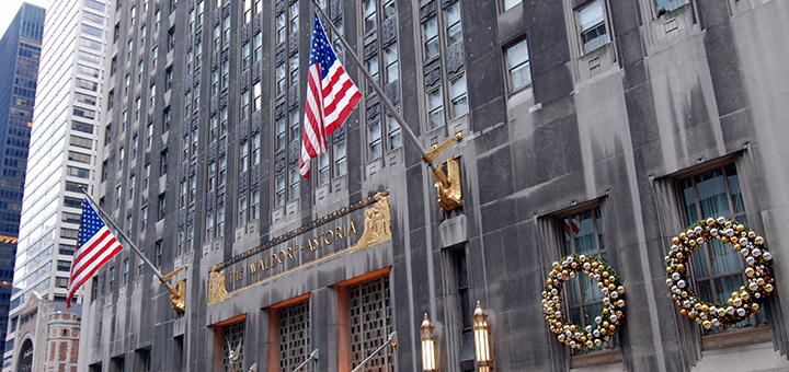 The Waldorf Astoria is one of 16 hotels to join the NYC Carbon Challenge. (Image credit: Kevin Harber, flickr)