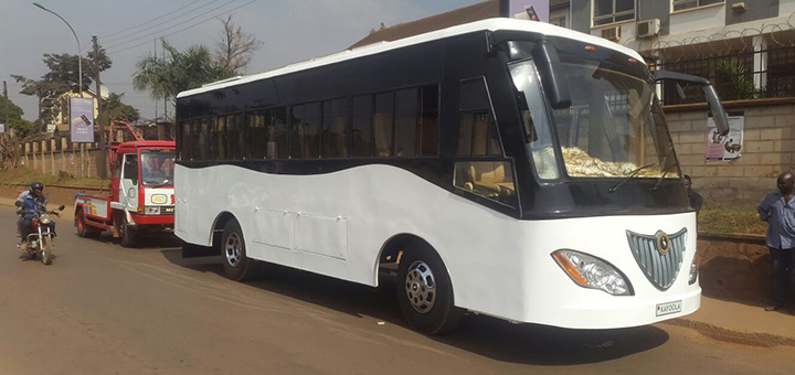 Uganda's fragile power grid poses a problem for electric mobility. The country's first solar-powered bus could revolutionise local transport. (Image credit: Kiira Motors)