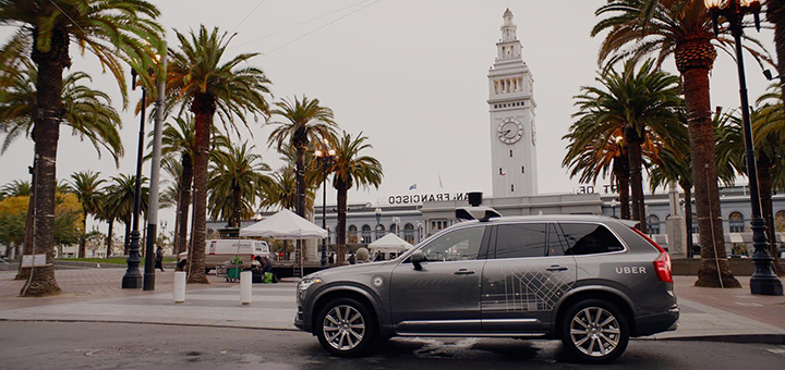 The state of California is threatening to file a lawsuit against Uber if the ridesharing company doesn't take its self-driving taxis off the streets of San Francisco. (Image credit: Uber)